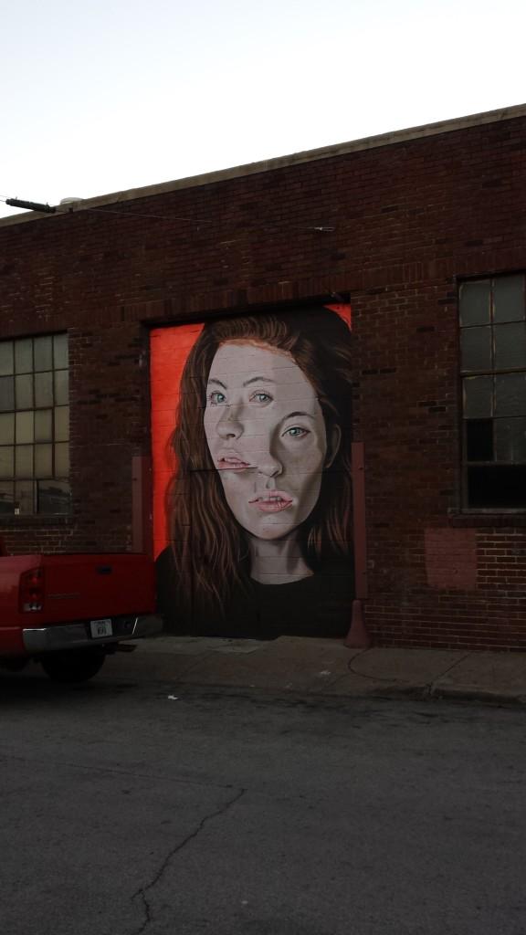 Deep Ellum Mural Red Head